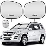 Large Size 63 x 35 inches Foldable Auto Window Sunshade,Blocks UV Rays to Keep Your Vehicle Cool,Easy to Install Sharink Car Sun Shade for Windshield with Love at First Sight Design
