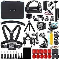 Artman Action Camera Accessories Kit 61-in-1 for Gopro Hero 9 8 7 6 5 4 3 2 1 Black Max Fusion Session Silver Akaso DJI...