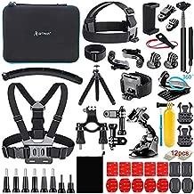 Artman Action Camera Accessories Kit 58-in-1 Compatible with GoPro Hero 9/8 Black, Max, Hero 7 6 5 4 3 2 1 Black Silver SJ4000/ SJ5000/ SJ6000 DJI OSMO Action DBPOWER AKASO Xiaomi Yi APEMAN
