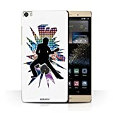 Phone Case for Huawei P8 Max Rock Star Pose Stretch White