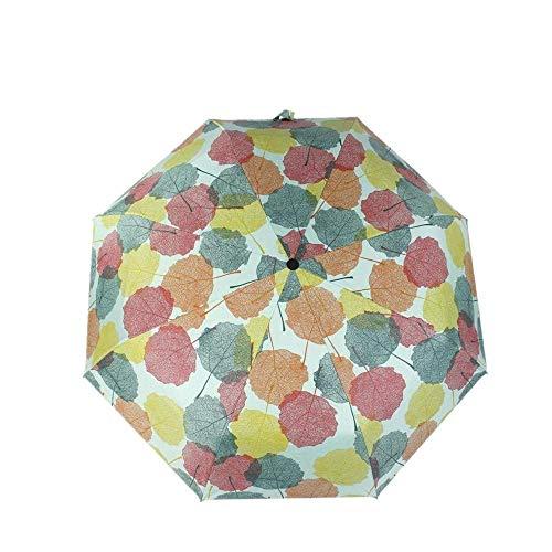 YNHNI Paraguas Plegables sombrilla sombrilla Triple Plegable Blanco impresión Sol Sol sunuzebrella Lluvia y Sol,Portátil (Color : Colour)