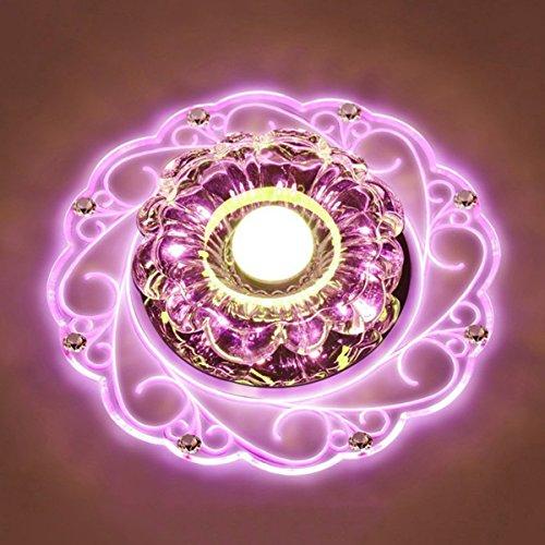 LED Kristall Deckenleuchte Farbwechsel Crystal Decken Pendent Lampen Für Korridore,Pink-Srew