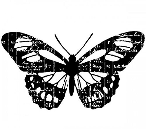 Scripted Ledger Butterfly Insect Stampington And Co Wooden Rubber Stamp
