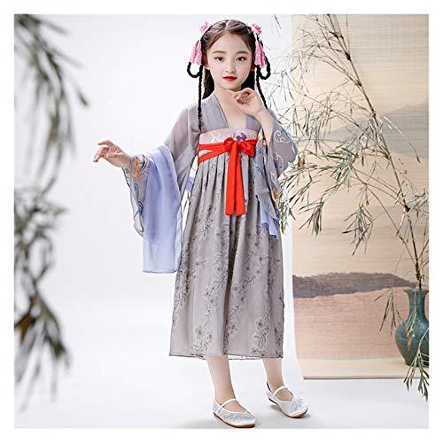 LUOSI Disfraz de hanfu oriental chino, estilo retro, Hanfu, para cosplay, princesa, china, vestido de nia tradicional, color (color: estilo H, tamao: 150 cm)