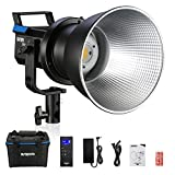Sutefoto P80 Studio Led Video Light Continuous Fresnel Light,YouTube Photography Lighting Bowens Mount with 5 Pre-Programmed Light Effects,80W 5600K Daylight,Reflector,Remote Control,Portable Bag