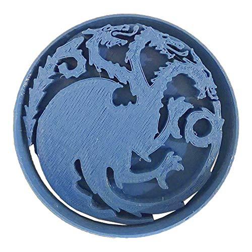 Cuticuter Juego De Tronos Targaryen Cortador de Galletas, Azul, 8x7x1.5 cm
