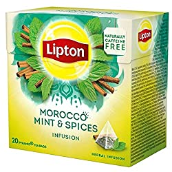 Lipton MOROCCO MINT (mint and spices) Tea Bags - Sealed Boxes of 12 x 20 bags = 240 pyramid tea bags