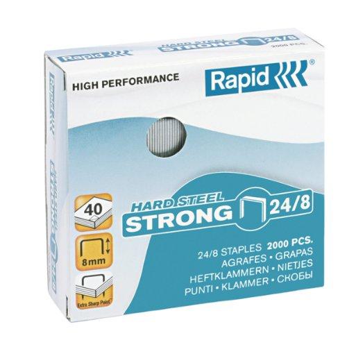 Rapid 24858900 Heftklammern 24/8mm Strong, rostfrei, 2000 Stück
