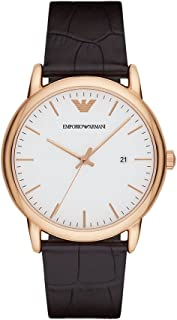 Emporio Armani Men's AR2502 Dress Brown Leather Quartz Watch
