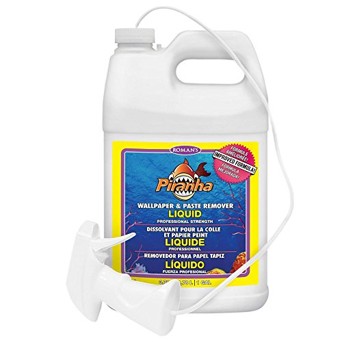 Roman Adhesives 206007 Liquid Spray Wallpaper and Paste Remover, Ready-to-Use, 1 Gal, 300 Sq. Ft, Clear