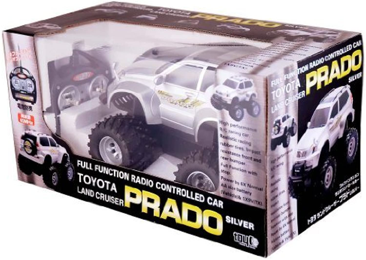 R   C Toyota Land Cruiser Prado White (Japan import   The package and the manual are written in Japanese)