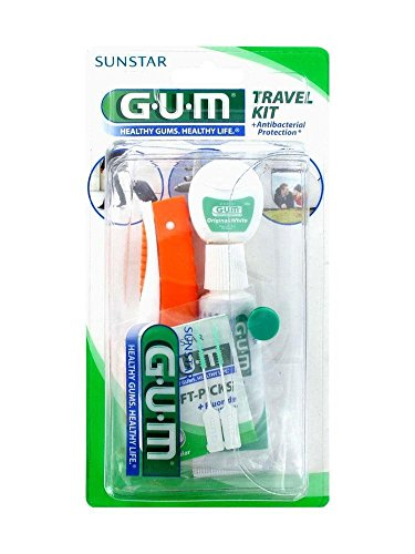 Travel Kit Spazzolino Da Viaggio + Filo Interdentale + Dentifricio + Trousse