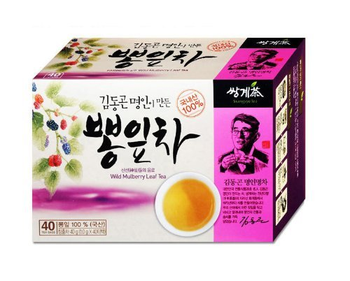 Mulberry Leaves Tea 1g X 40 Tea Bags, Korean Herb Leaves