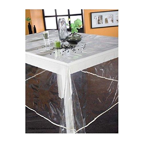 Calitex, Tovaglia in plastica, rettangolare, 140 x 200 cm, tinta unita traslucida