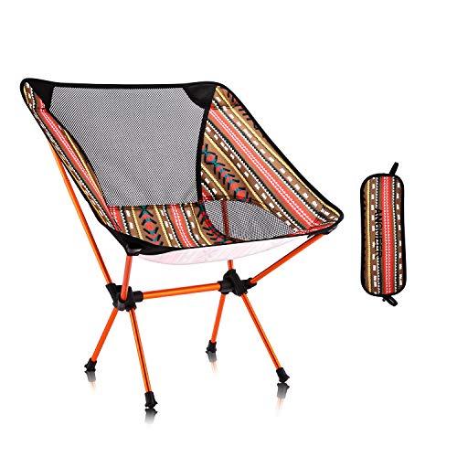 アウトドアチェア 折りたたみ 【耐荷重150kg】 超軽量 キャンプ椅子 レジャーチェア イス コンパクト 登山 お釣り 収納袋付き 携帯便利 一年安心保障