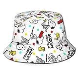 Sombrero de Pescador Sn-oopy Verano Protección UV Sombreros de Cubo de Viaje Gorra de Sol Plegable de Playa para Hombres Mujeres-ZKW