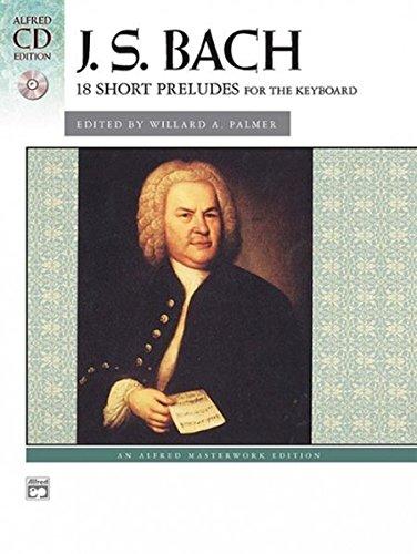 Bach -- 18 Short Preludes: Book & CD