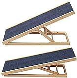 Scaletta per cani Ramp PET Lampada di legno di legno della scala, la rampa di sicurezza antiscivolo regolabile dell'altezza della rampa del cane dell'animale domestico per la testa di sicurezza