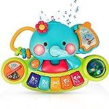 EastSun Juguete educativo temprano de elefante musical para bebé de 6 meses