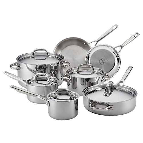 Anolon Tri-Ply Clad Stainless Steel 12-Piece