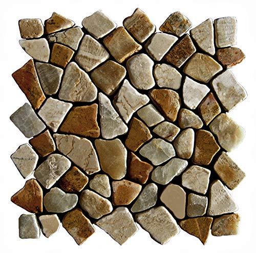 Mosaikfliesen Naturstein - M-005 - Marmor Onyx Wandfliesen Bodenfliesen Badfliesen - Fliesen Lager Verkauf Stein-mosaik Herne NRW