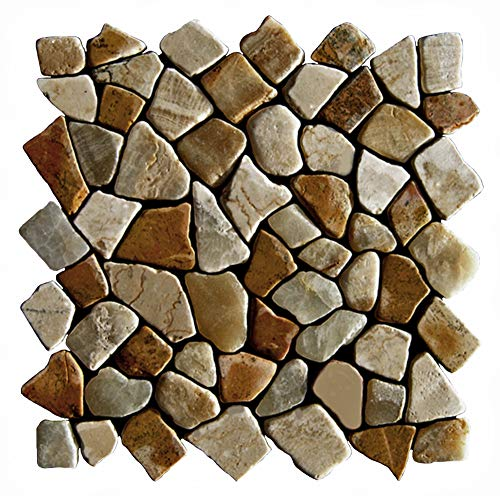 Mosaikfliesen - M-1-005 - 1 m² = 11 Fliesen - Natursteinmosaik Marmor Onyx Wandfliesen Bodenfliesen - Lager Verkauf Stein-Mosaik Herne NRW Naturstein