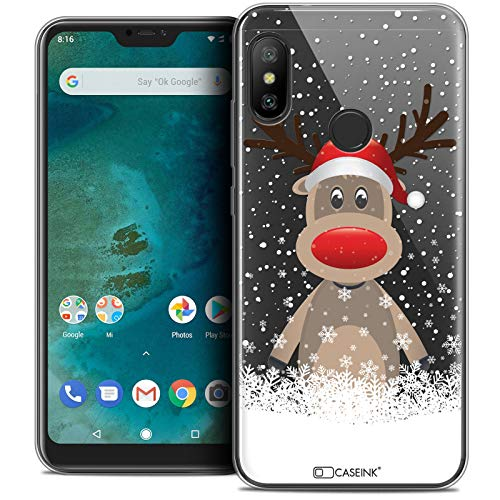 Funda para Xiaomi Mi A2 Lite, Ultrafina Navidad 2017, diseño de Ciervo al Gorro