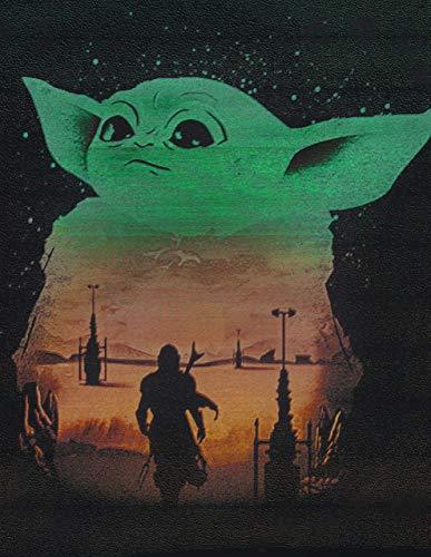 Baby Yoda Mandalorian Metal Painting Poster Star Wars Spray Paint