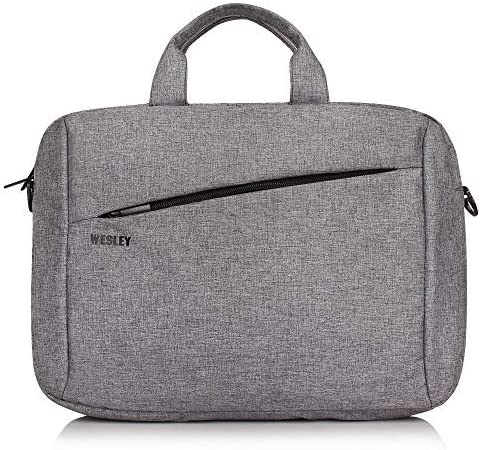 Wesley Office Laptop Bag Briefcase/Notebook/MacBook Professional Business 15.6 Inch Messenger Sling College Bag Water...
