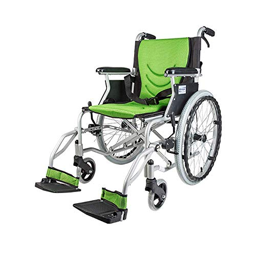 ZHITENG Wheelchair, Aluminum Alloy Wheelchair, Elderly Disabled Scooter, Lightweight and Portable, Folding Back Swing Away Footrests hgfjghfdgfd