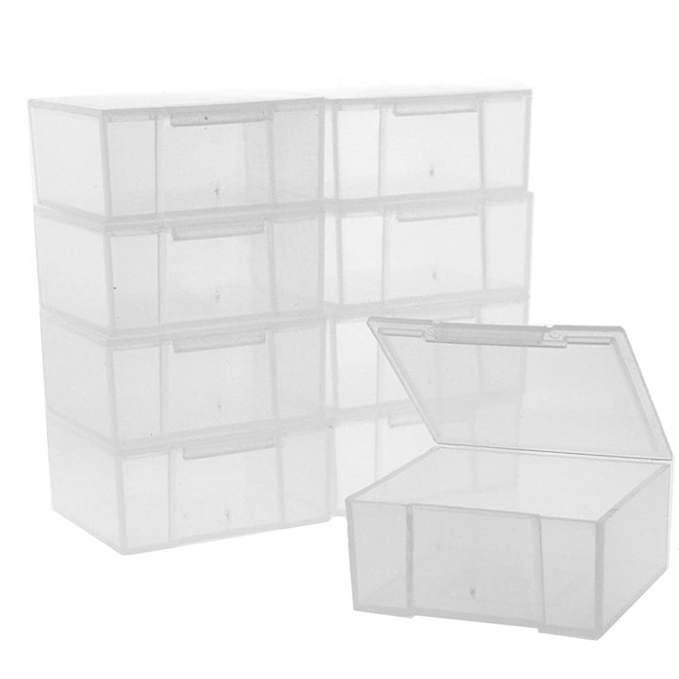 12 Storage Square Clear Container For Crafts Beads Small Items Organizer 2 inches Square