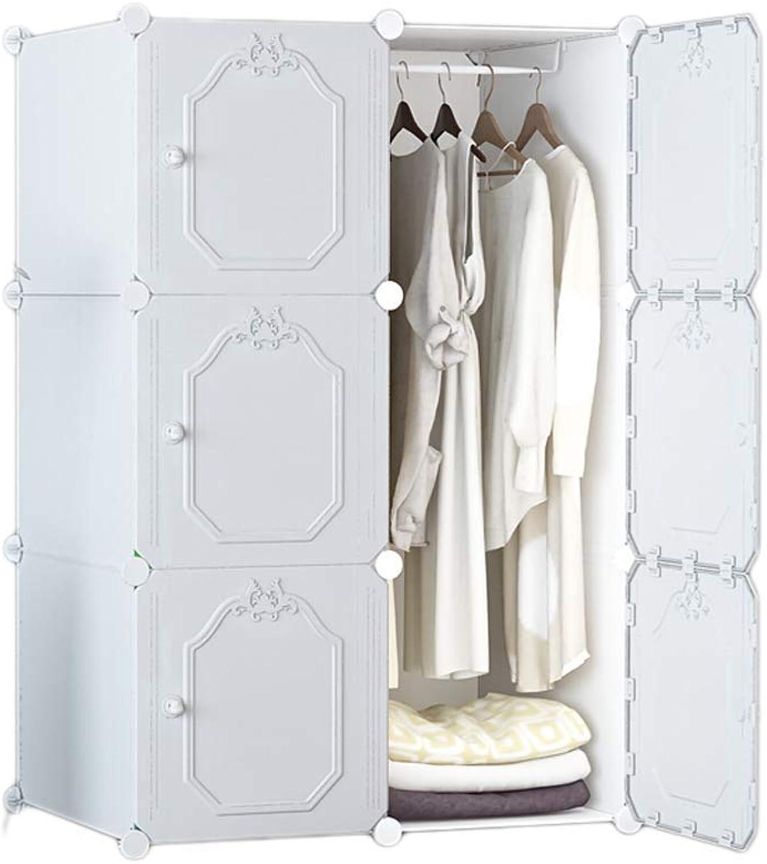 MXYMX Multi-Layer Storage Wardrobe Clothes Portable Wardrobe Closet Modular Storage Organizer Space Saving Armoire (color   White)