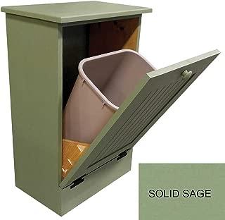 Sawdust City Tilt-Out Wooden Trash/Recycle Bin Holder (Solid Sage)