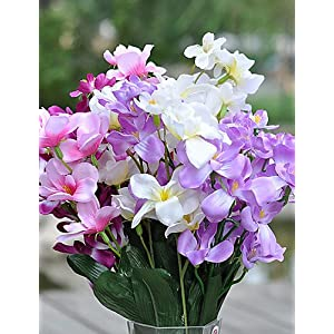 HUAHUA Artificial Flowers, Fashion Bouquets,Freesia in Silk Cloth Artificial Flower for Home Decoration(10Piece)