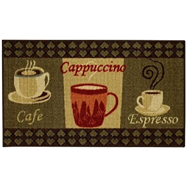Maxy Home Cucina Coffee 1 ft. 6 in. x 2 ft. 7 in. Kitchen Door Mat