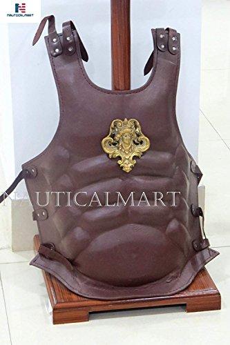 NauticalMart Coraza de cuero medieval pesada placa de pecho armadura romana muscular armadura