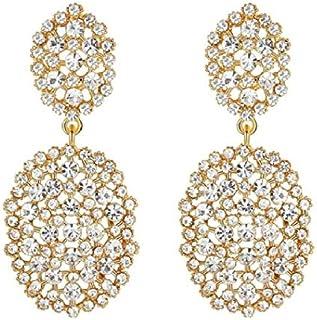 Brinco De Noiva Banhado a Ouro com strass embalagem luxo