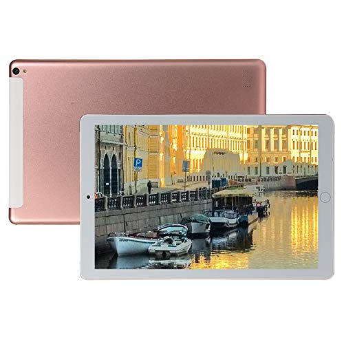 FJYDM Tableta Android De 10.1 Pulgadas, 32GB ROM 2GB RAM, Tablet PC con Ranuras para Tarjetas Dual Sim Tableta, WiFi, Bluetooth, Tableta con Pantalla IPS De Alta Definición,Rosado