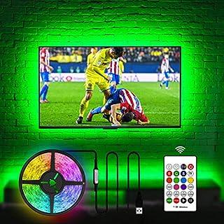 USB TV LED Backlight 75 Inch TV, Hamlite 18Ft Led Strip Lights for TV Backlight Customized for 70 75 80 82 Inch TVs Without Gap, 20 Colors Changing Bias Lighting Behind TV for Gaming Room Lights