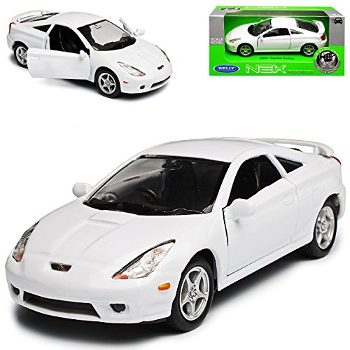 Welly Toyota Celica T23 Coupe Weiss 1999-2005 ca 1/43 1/36-1/46 Modell Auto