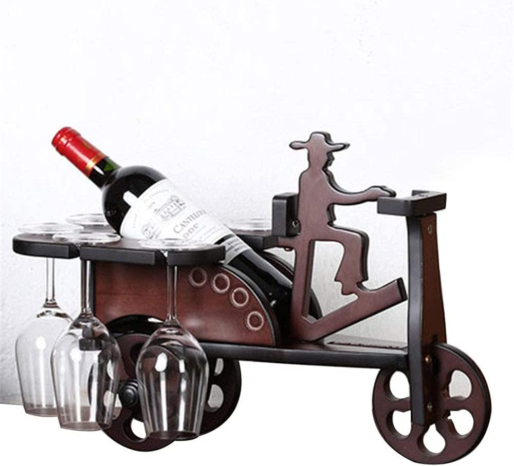 COUYY Beauty products Wine Rack Wooden Tricycle-Shaped Ranking TOP15 Bracket Fixed