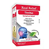 Real Relief Tinnitus Homeopathic Tablets Ringing & Buzzing in Ears, Ear Pain & Pressure, Headache 90 Count