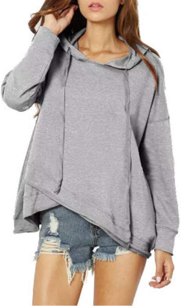 Sudaderas con Capucha para Mujer Sudaderas Cuello Alto Manga Larga Jersey Suelto Sudaderas Irregulares Bloque de Color Empalmado Jerseys Cuello apilado Tops Oto/ño Invierno