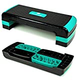 Xylo Sapphire Aerobic Steppbrett 3-Stufen höhenverstellbar Stepper Step-Bench Home-Stepper...