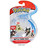 Pokemon 2 Inch Battle Action Figure 2-Pack, includes 2' Alolan Rattata and 2' Sandygast