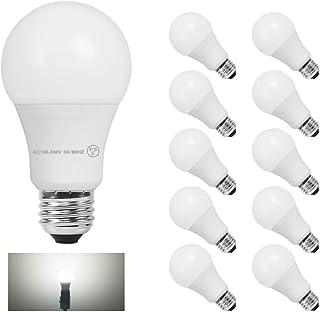 共同照明 10個セット LED電球 E26 60W形相当 昼光色 広配光タイプ GT-B-9W-E26-3-10B 密閉器具対応 断熱材施工器具対応 E26口金 一般電球形 広角 9W LEDライト