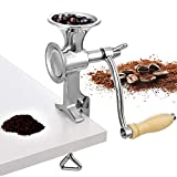 Moongiantgo Manual Grain Grinder Hand Crank Grain Mill Stainless Steel Home Kitchen Grinding Tool...