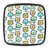 YATELI Lindo patrón de bebé Tigre Perillas de extracción de para gabinetes, armarios, Puertas y cajones de Muebles: se Venden como un Paquete de 4 perillas