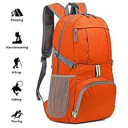 Netspower Hiking Backpacks, Lightweight Packable Trekking Rucksacks Casual Travel Backpacks Multifunction Bicycle Rucksacks Waterproof Rucksacks with Reflective Strips for Traveling Climbing Sport Outdoor Camping