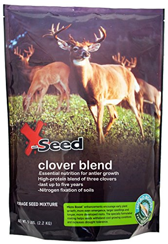 X-Seed 20212 Clover Mix Food Plot Mixture with...